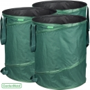 GardenMate® 3x Pop-up Gartensack 160l Polyester Oxford 600D
